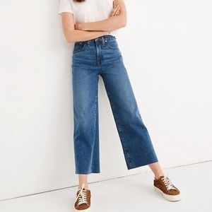 Madewell High rose wide leg crop jeans in size 29